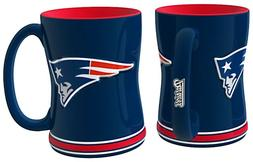 1 New England Patriots Coffee Cup Mug - 14oz Sculpted Relief