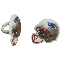 12 New England Patriots NFL Team Cupcake Rings Toppers Decor