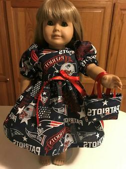"18"" Doll Clothes New England Patriots Fabric Dress Set  Dres"