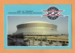 1986 SUPER BOWL XX UNSOLD GAME DAY POSTCARD NEW ENGLAND PATR