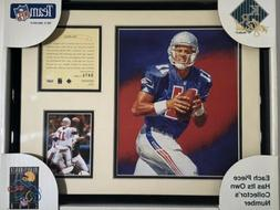 1995 Drew Bledsoe New England Patriots Framed Kelly Russell