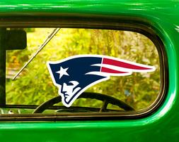 2 NEW ENGLAND PATRIOTS DECAL Stickers Bogo For Car Window Fr