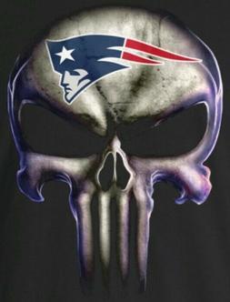 2 New England Patriots Waterproof Vinyl Punisher Skull Stick