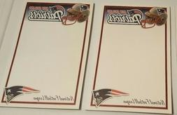"""NFL New England Patriots 5"""" x 8"""" licensed note pads 40 shee"""