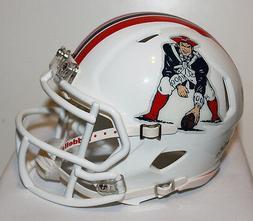 2012 New England Patriots Speed Riddell Custom Mini Helmet -