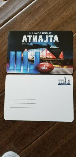 2019 SUPER BOWL 53 EXCLUSIVE POSTCARD NEW ENGLAND PATRIOTS L