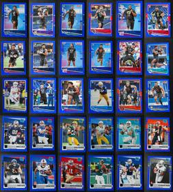 2020 Donruss Blue Parallel Football Cards Complete Your Set