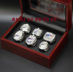 6 Pcs Champion Ring New England Patriots Rings Set With box