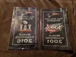New England Patriots Banners 2001&2016 World Champions 2 Ban
