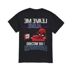 brand men shirt Deadpool leave me alone I am <font><b>watchi