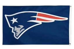 Deluxe New England Patriots Team Logo Flag Banner 3x5 ft NFL