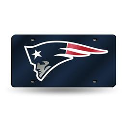 New England Patriots Deluxe Mirrored Laser Cut License Plate