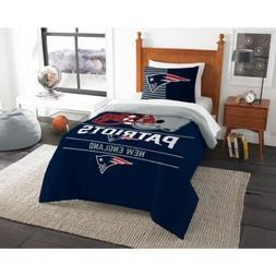 "New England Patriots ""Draft"" Twin Comforter & Sham Set O"