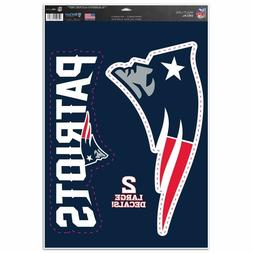 """New England Patriots 11"""" x 17"""" Multi Use Decals - Auto, Wall"""
