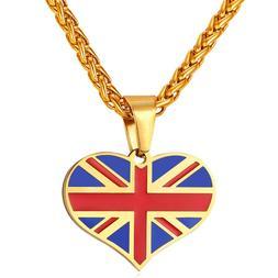 <font><b>New</b></font> Hot UK Heart Love Necklace <font><b>