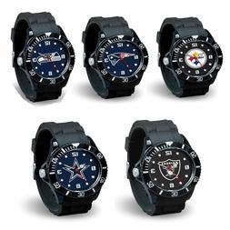 Football Team Black Licensed Sparo Spirit Wrist Watch -Pick