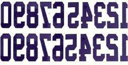 Full Sized Helmet Number Number Decals for New England Patri