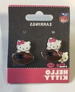 Hello Kitty New England Patriots Stud Earrings NEW Jewelry F