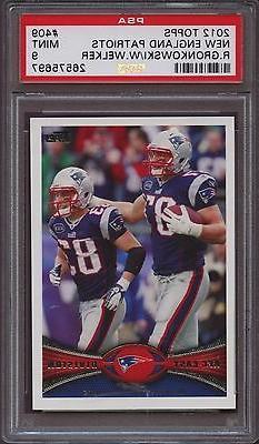2012 Topps 409 New England Patriots Rob Gronkowski Wes Welke