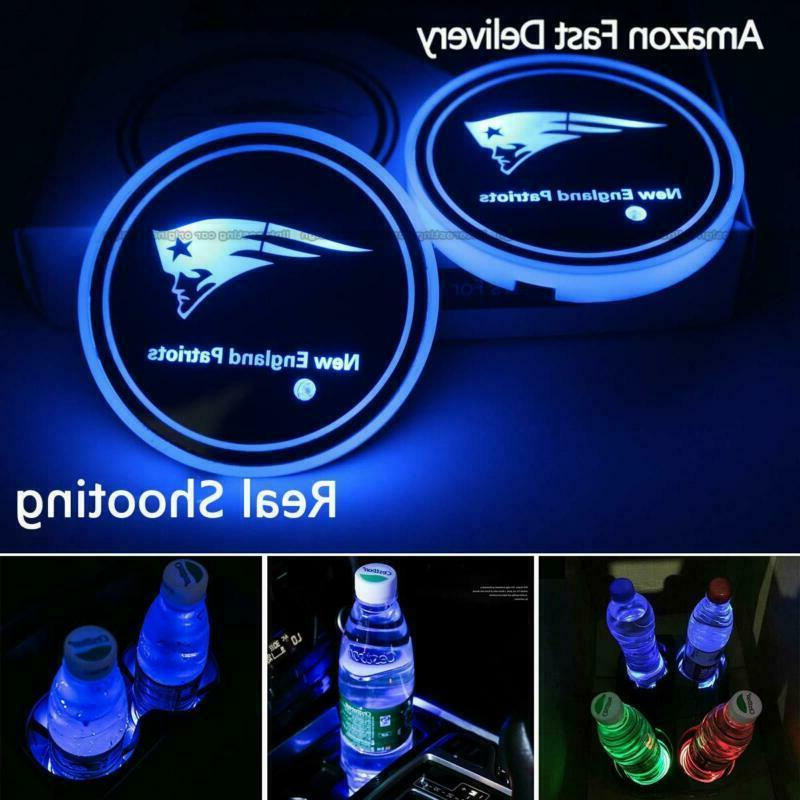 2pcs led car cup holder lights