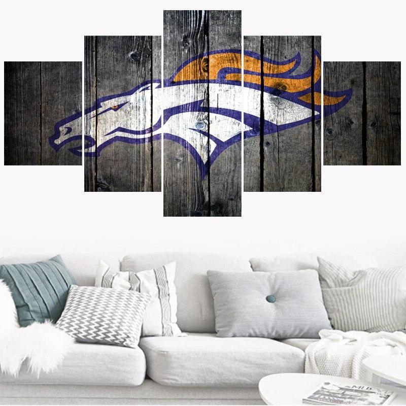 5 <font><b>Patriots</b></font> Teams Home Decor Canvas Living