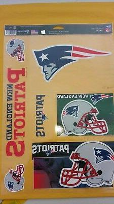 New England Patriots 11 X 17 sheet of 5 Ultra Decal / Window