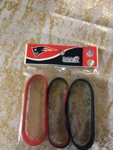 new england patriots 3 rubber wristbands new