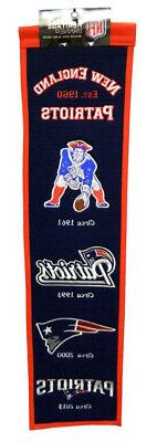 New England Patriots 8x32 Embroidered Genuine Wool NFL Herit