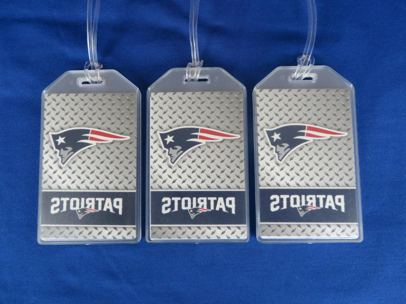 new england patriots football luggage tags 3