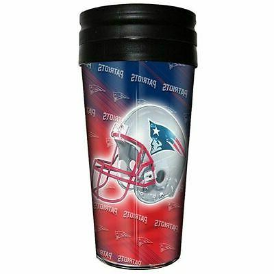 new england patriots insulated travel tumbler coffee