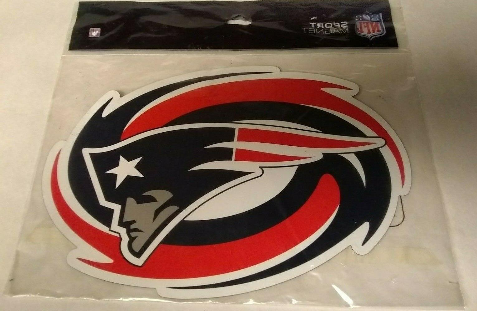 new england patriots large magnet football car