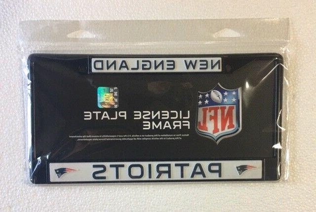 new england patriots metal license plate frame