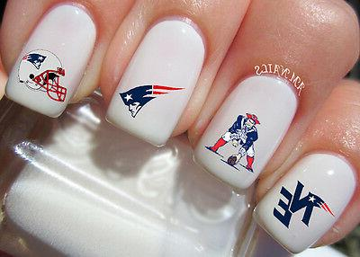 new england patriots nail art stickers transfers