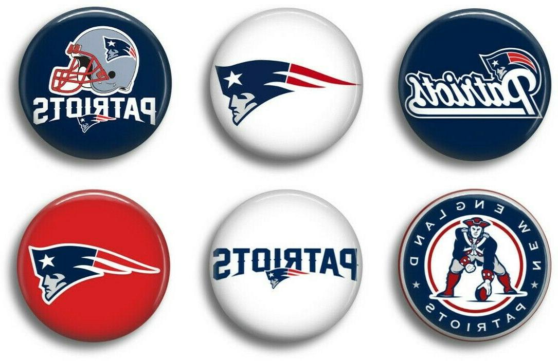 new england patriots six 1 inch button