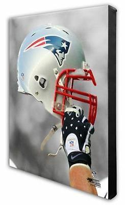 Photo File New England Patriots Team Helmet Canvas Print Pic