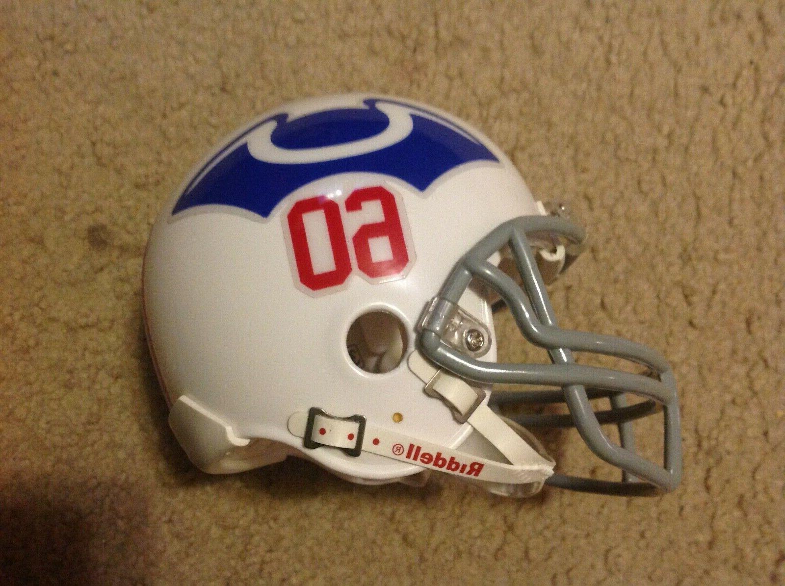 New England Patriots throwback mini Football Helmet authenti