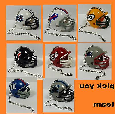 new nfl ceiling fan helmet pull chain