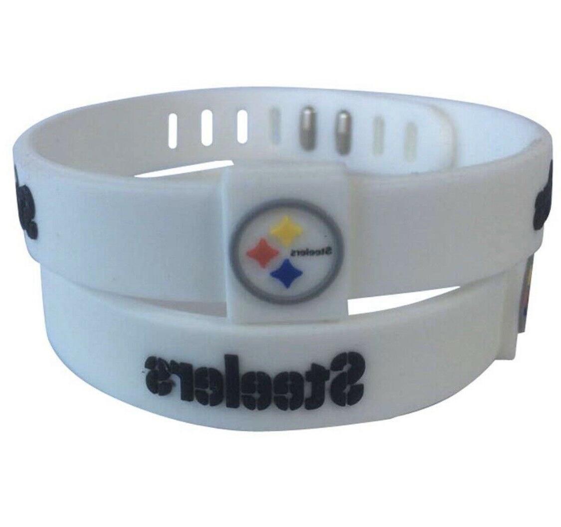 NFL Adjustable Silicone Wristband Bracelets Team Ship