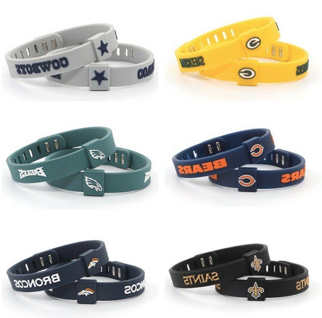 nfl adjustable football silicone wristband bracelets choose
