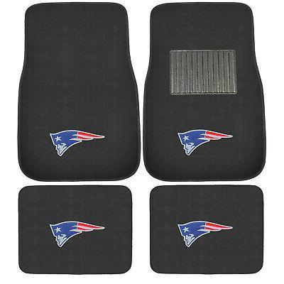 New 4pcs NFL New England Patriots Car Truck Front Rear Carpe