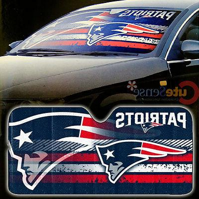NFL New England Patriots Car Windshield Front Window Sun Sha