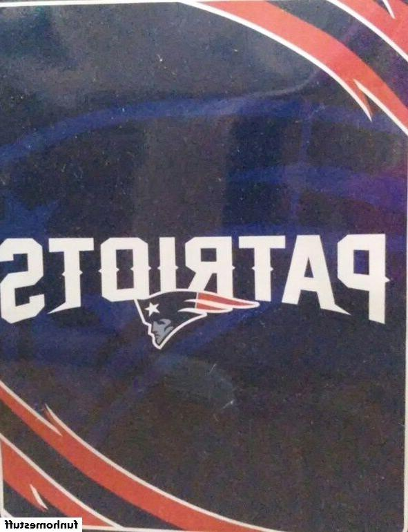 BIG NEW ENGLAND PATRIOTS NFL NORTHWEST PLUSH NEW SOFT BED BL