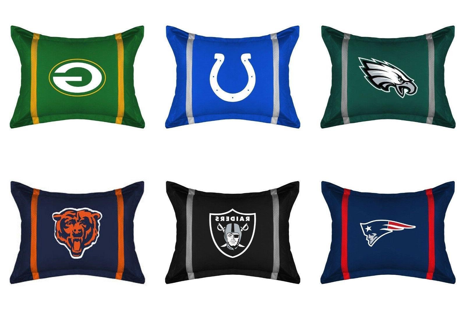 nfl football pillow sham jersey stripes