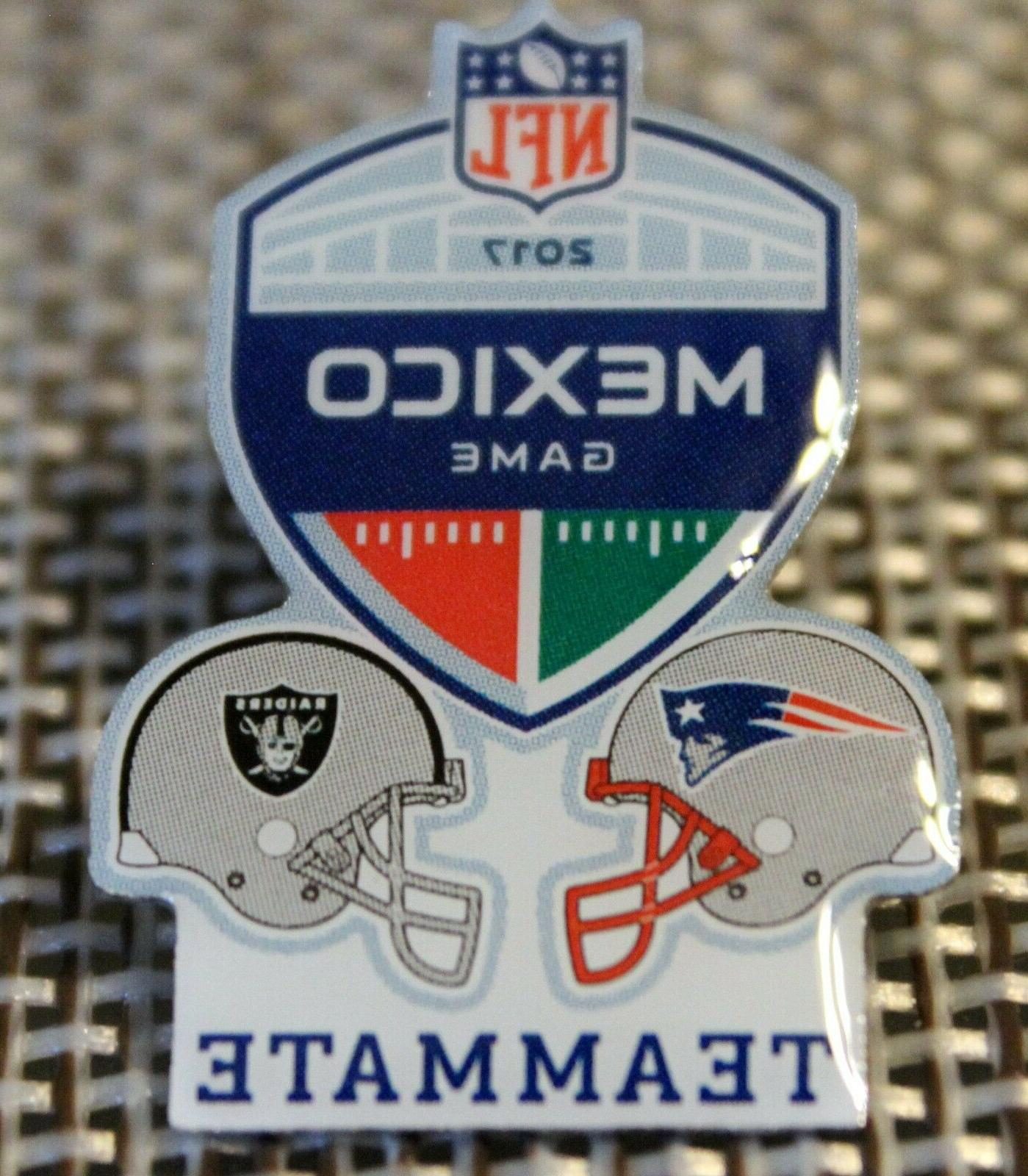 Official Game NEW ENGLAND vs. OAKLAND Lapel Pin