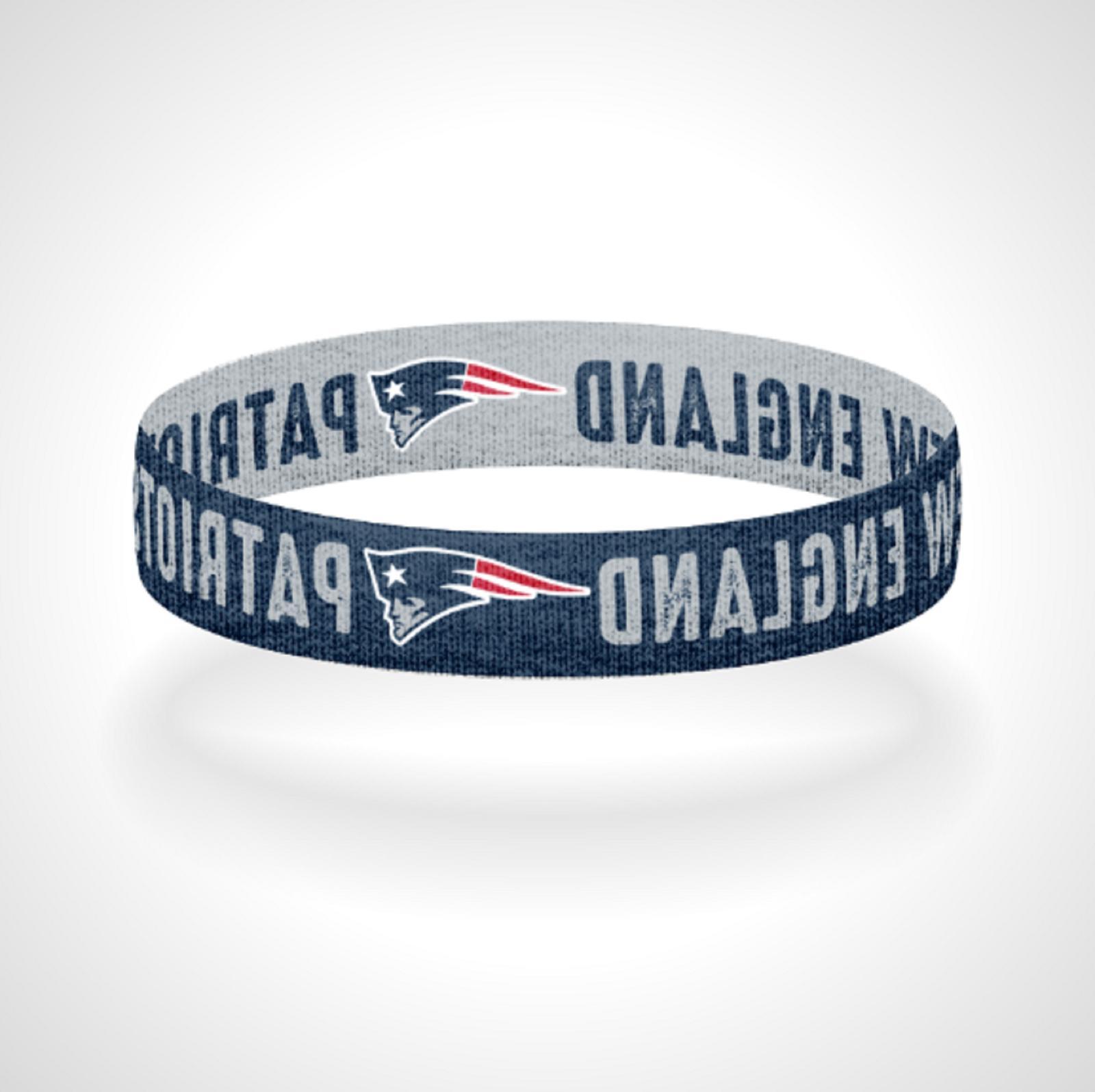 reversible new england patriots bracelet wristband