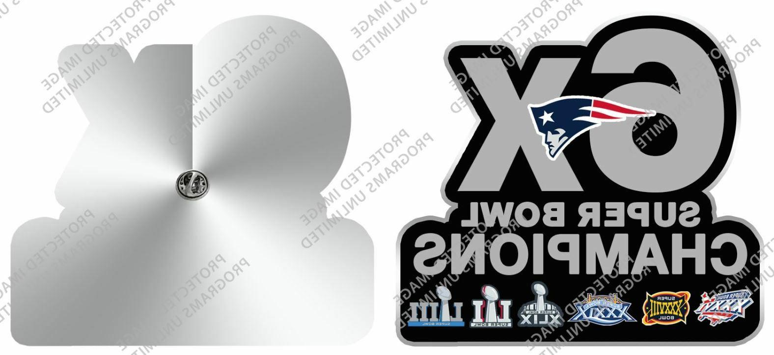 SUPER NEW ENGLAND PATRIOTS 6X PATCH STYLE