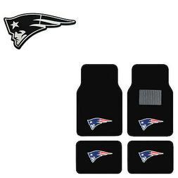 New 5pc NFL New England Patriots Car Truck Floor Mats & Chro