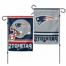 "New England Patriots 2 Sided 12.5"" X 18"" Garden Flag FREE SH"