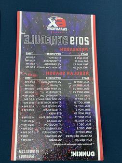 New England Patriots 2019 Season -6X NFL Champions Dunkin' M
