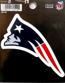 "New England Patriots 3"" Flat Vinyl Die Cut Decal Bumper Stic"
